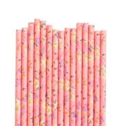 floral paper straws 1